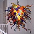 Современный арт деко рот выдувное стекло люстра освещение энергосберегающие для декора виллы