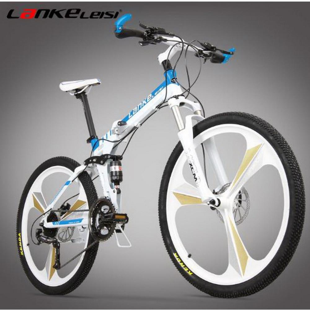 Folding bicycle / 26 inch 21/27 speed oil brake one folding mountain bike men and women positioning flywheel цена