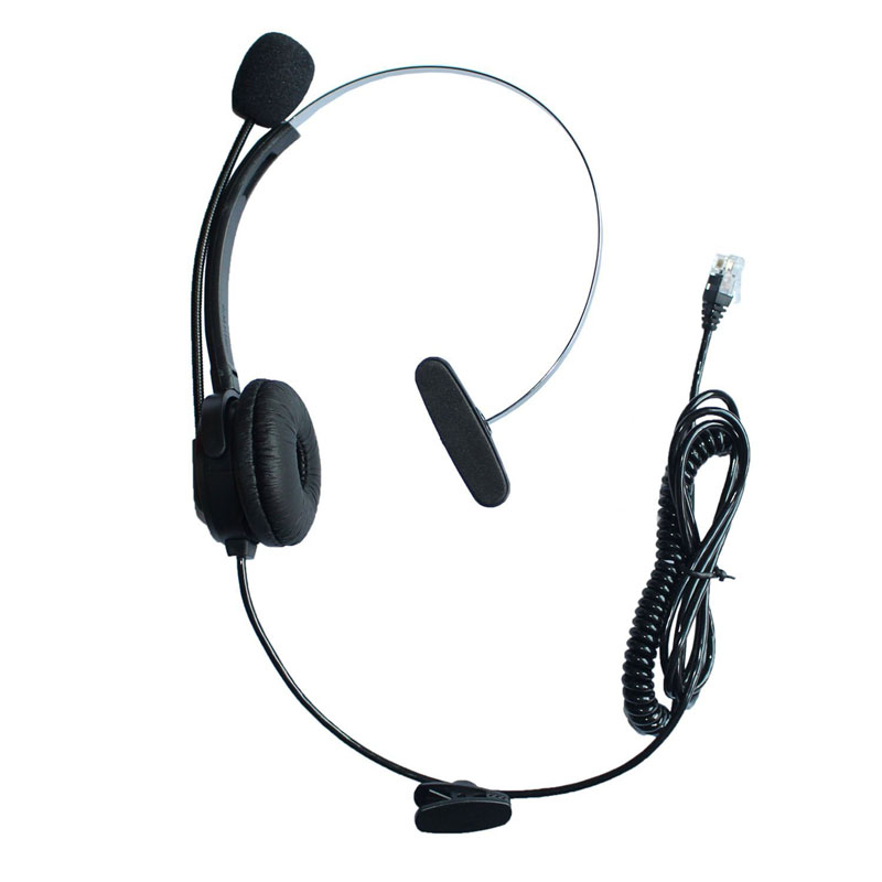 Comfortable Landline Wired 4Pin RJ9 Plug Headset Noise Cancelling  Microphone IP Telephone Headphone Call Center for 3Com Aastra