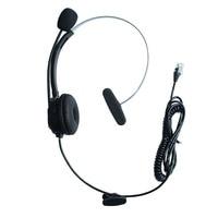 Rahat sabit kablolu 4Pin RJ9 fiş kulaklık gürültü iptal mikrofon IP telefon kulaklık çağrı merkezi için 3Com Aastra|AC/DC Adaptörler|Tüketici Elektroniği -