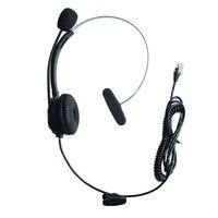 Telefone Fixo Com Fio confortável 4Pin RJ9 Plugue do Fone de Ouvido Fone de ouvido Com Cancelamento de Ruído Microfone Call Center fone de Ouvido De Telefone IP para Aastra 3Com