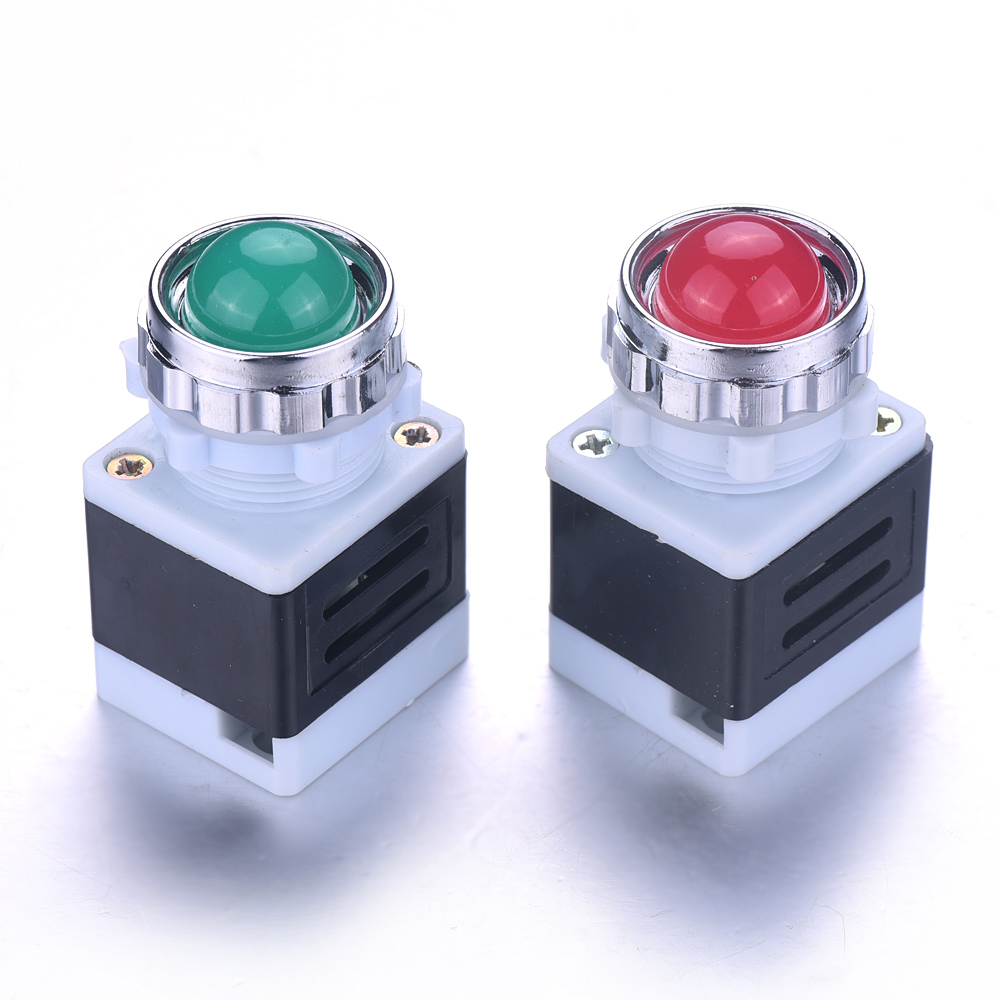 New Arrival 1/2pcs AC 220V Panel Mount LED Power Indicator Pilot Signal Light For The Indicator Anticipating Signals 64*35*31mm