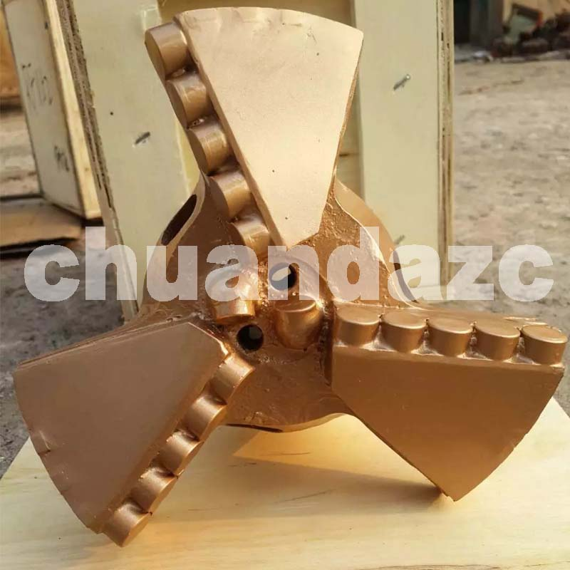 171mm three wing drag bits,PDC drag bit,water well drilling bit hot sale best pdc cutter bit 93mm pdc drag bit for water drilling