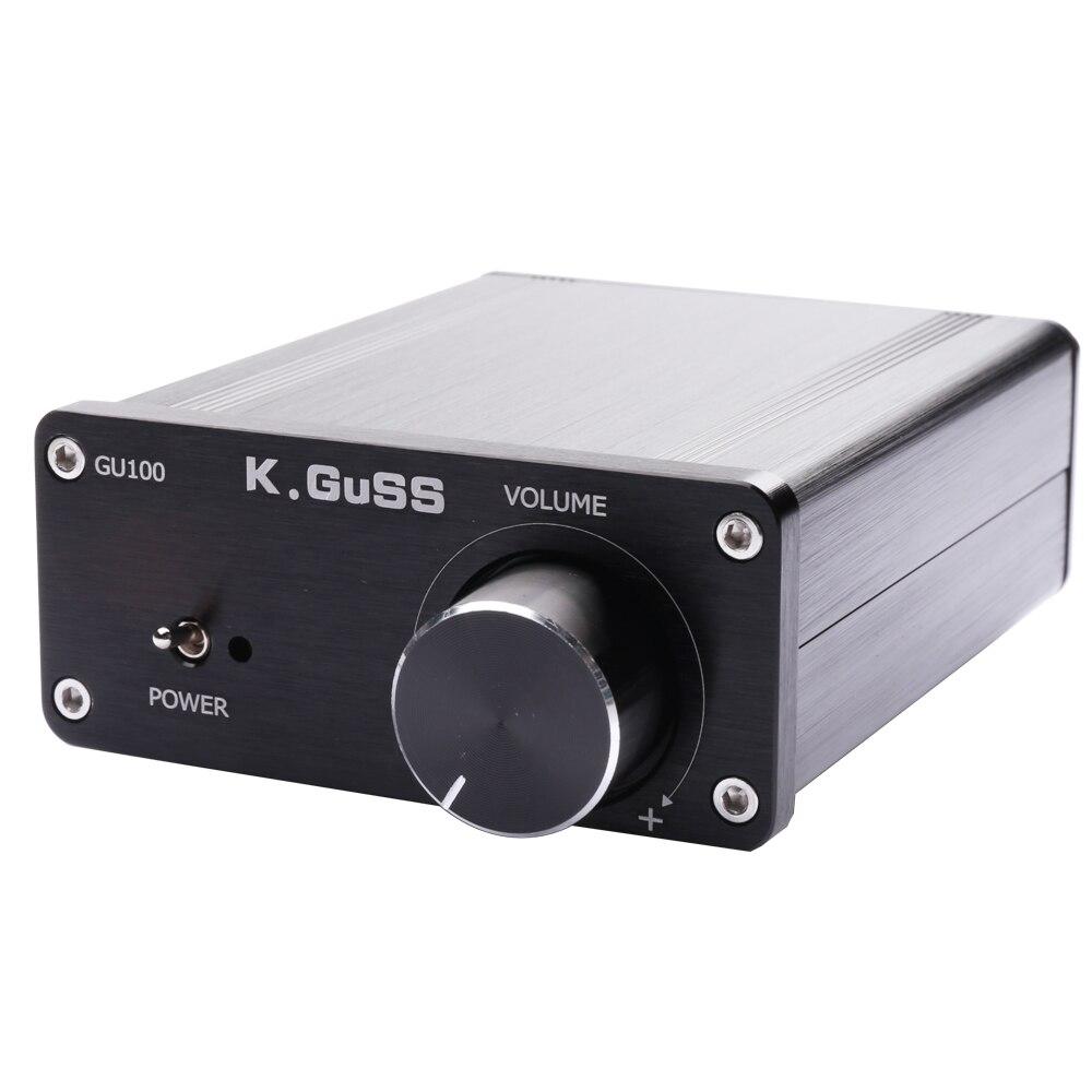 K.GUSS GU100 MINI HiFi Class D Audio Digital Power Amplifier tpa3116d2 TPA3116 Advanced 2*100W Mini Home Aluminum Enclosure amp