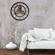 151cbb11c93 3D Número Steampunk Engrenagem Relógio de Parede Silencioso Rústico Retro  Do Vintage De Madeira Para Home