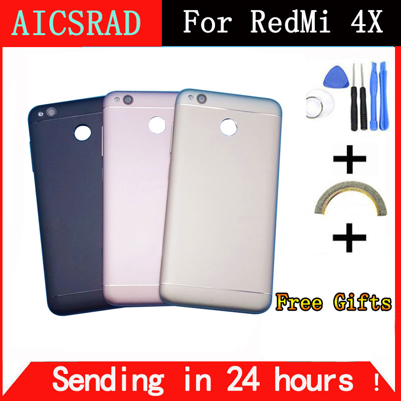 AICSRAD Battery cover case for 5.0 inch xiaomi redmi 4x replaced phone housing case with side buttons free shipping