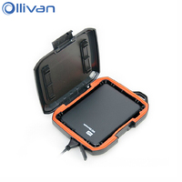 Ollivan Waterproof Rugged Case For WD Elements Dust Proof External Hard Drive Disk Bag Portable Hard