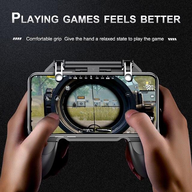 PUBG controlador de juegos móvil Gamepad disparador Aim botón L1R1 tirador Joystick para IPhone Android juegos Pad Accesorios