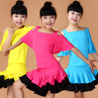 Girl Kids Dance Dresses Tango Dress Saias Samba Costume Children Disfraz Infantil Latin American Dance Dresses