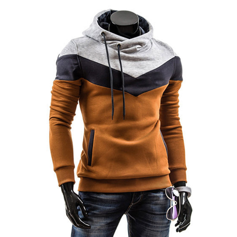 2019 Men's winter slanted zippers pullovers hoodies warm hooded jerseys over hoodies#96445