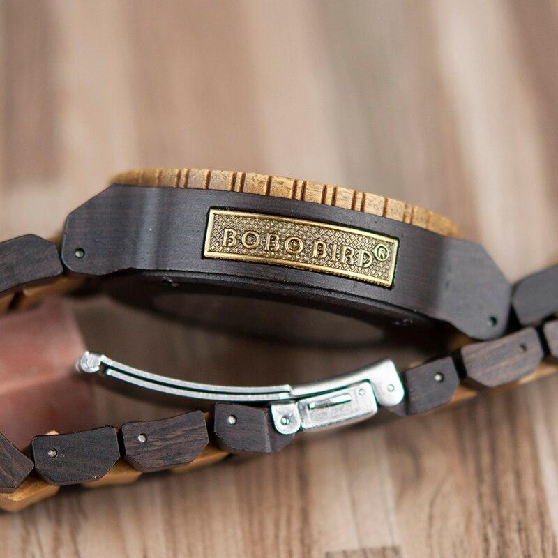 BOBO oiseau en bois montres hommes automatique mécanique montre-bracelet étanche mâle forsining dans cadeau boîte en bois masculino montre - 6