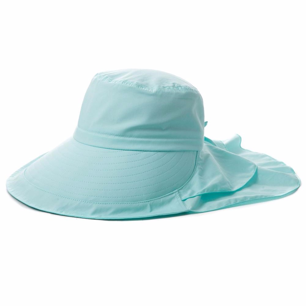 bffbc15caa7 Women Summer Sun Hat UV Protection Cotton Pack able Wide Brim With Neck  Cover Cord UPF 50 Sea Beach Caps Hats For Female Lady-in Sun Hats from  Apparel ...