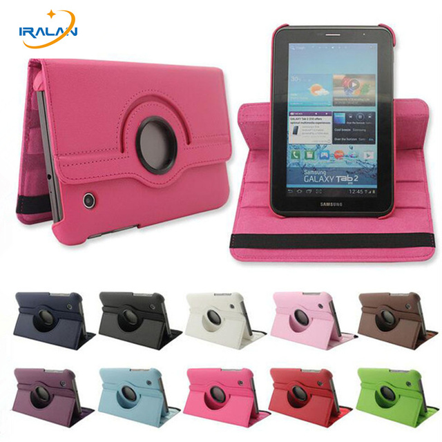 """3 in 1 hot and colorful 360 turn off PU leather case Samsung Galaxy Tab 2 7 """"GT-P3100 P3110 P3113 Free Shipping"""