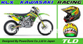 Top Quality Team Graphics & Backgrounds 3M Decals Stickers Kits for KAWASAKI TLD Racing KLX450 2008-2011Free Shpping
