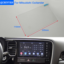 Car Styling 10 Inch GPS Navigation Screen Steel Glass Protective Film For Mitsubishi Outlander Control of LCD Screen Car Sticker