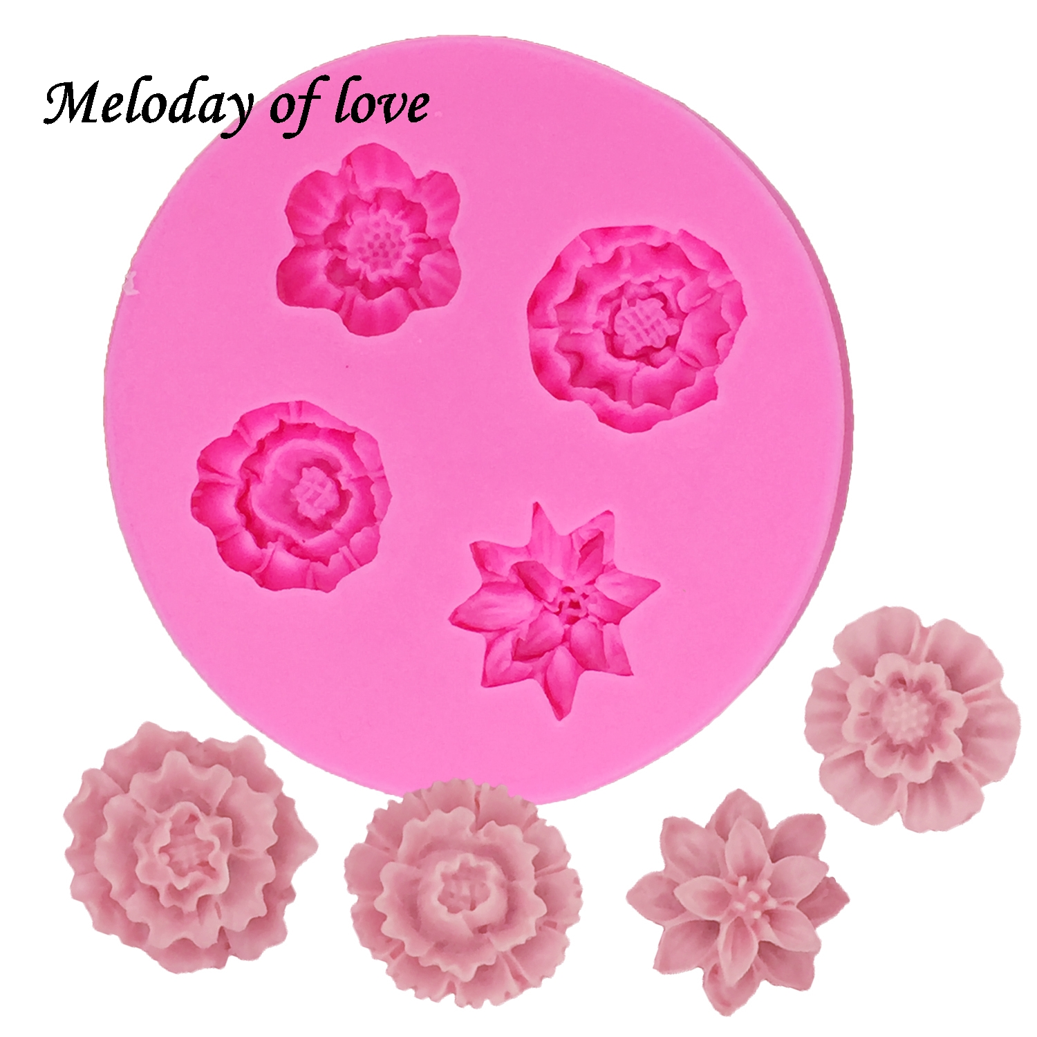 Chrysanthemum Silicone Fondant Moulds Cake Decorating Craft Clay Chocolate Mould