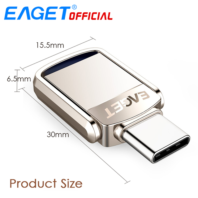 EAGET Type C USB Flash Drive 16GB USB 3.0 Pen Drive 32GB 64GB 128GB Pendrive USB Stick Disk for Huawei for Xiaomi Phone Laptops