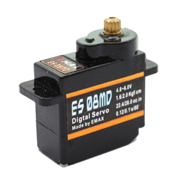 5pcs EMAX micro servo motor digital metal gear brushless 1.6/2.0Kg.cm for rc car helicopter boat accessory