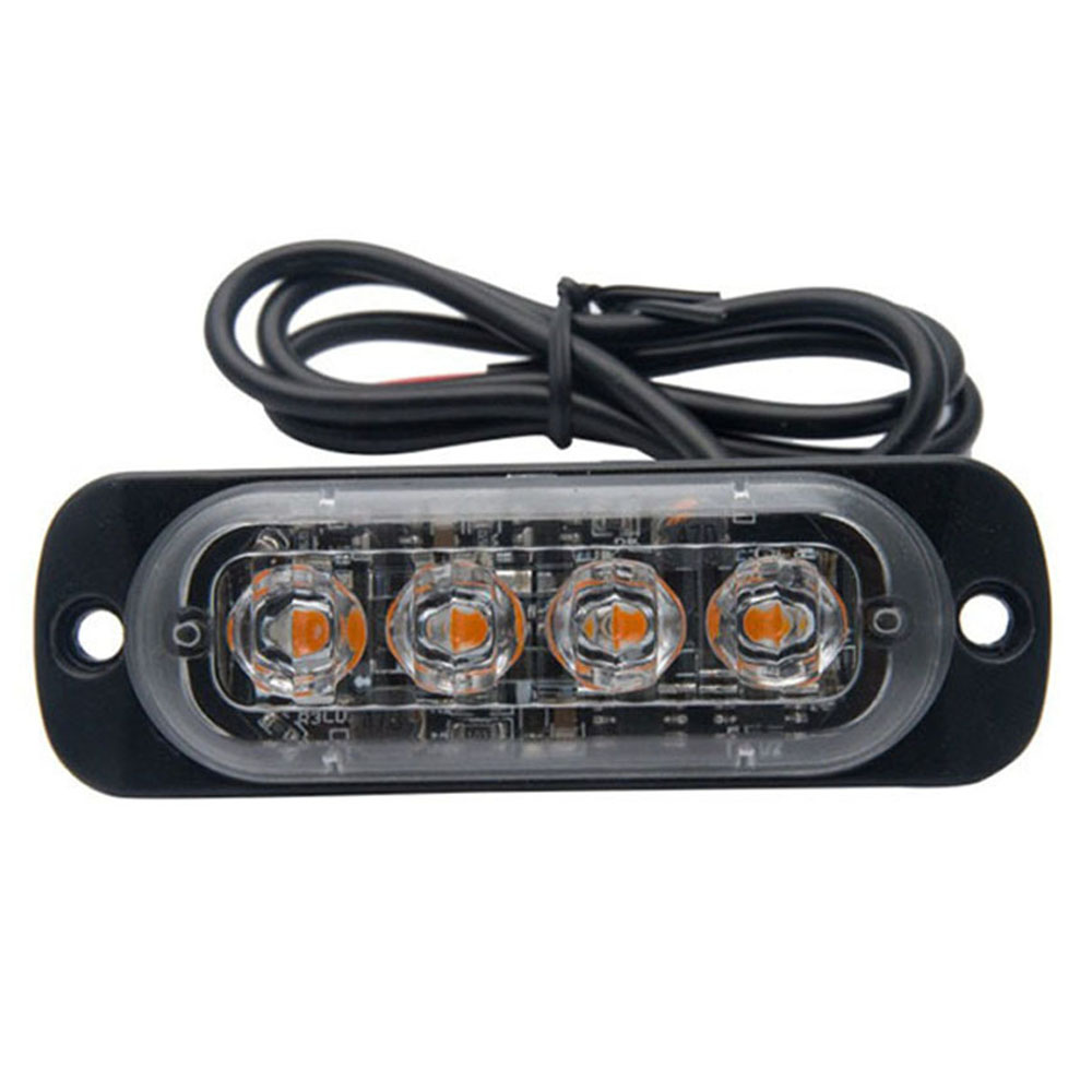 Car Lights Nice 1pcs Grills 6 X 3 Led Blue Red Amber White Emergency Police Fireman Flashing Warning Car Auto Boat Bar Strobe Light High Power Durable Modeling Automobiles & Motorcycles