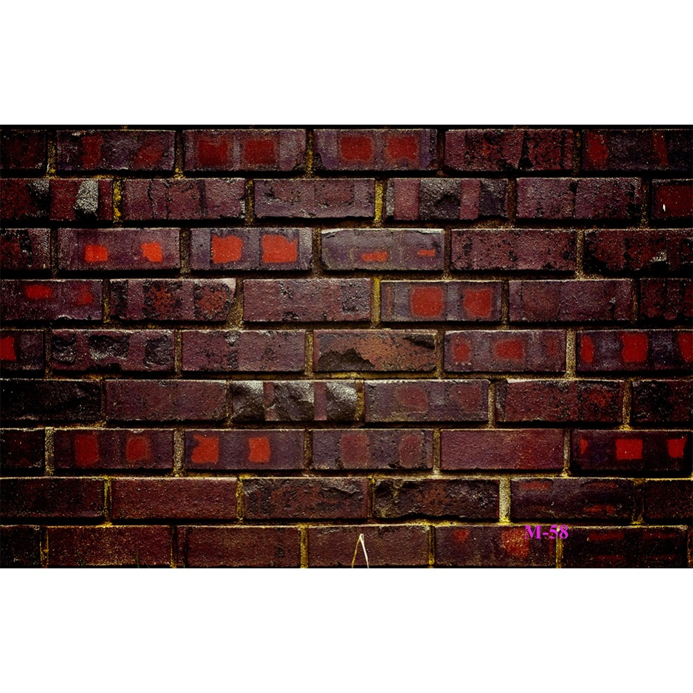 Us 7 53 42 Off Lb Portrait Rustic Maroon Brick Wall Background Photography Polyester Backdrop Studio Photo Prop Seamless Washable No Crease In
