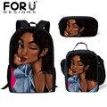 FORUDESIGNS/2019 школьные сумки для девочек-подростков в Африканском и американском стиле; школьный рюкзак для девочек; детские школьные сумки
