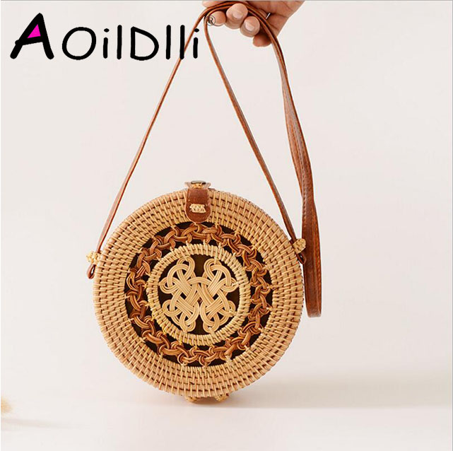 Luggage & Travel Bags Luggage & Bags Handmade Embroidered Star Straw Bales Travel Summer Beach Bag For Women Holiday Rattan Bag Ladies Girl Messenger Shopping Bags