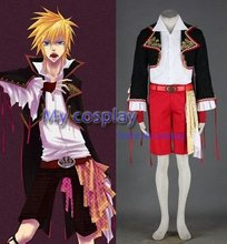 Anime Vocaloid Lin Men's Cosplay Costume For Halloween Jacket +Belt +Shirt +Pants