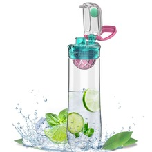800 ml Obst Infuser Plastikwasserflasche Flip-Top Tritan BPA FREI Outdoor Camping Gym Weihnachten Dicht mit Tragbaren griff
