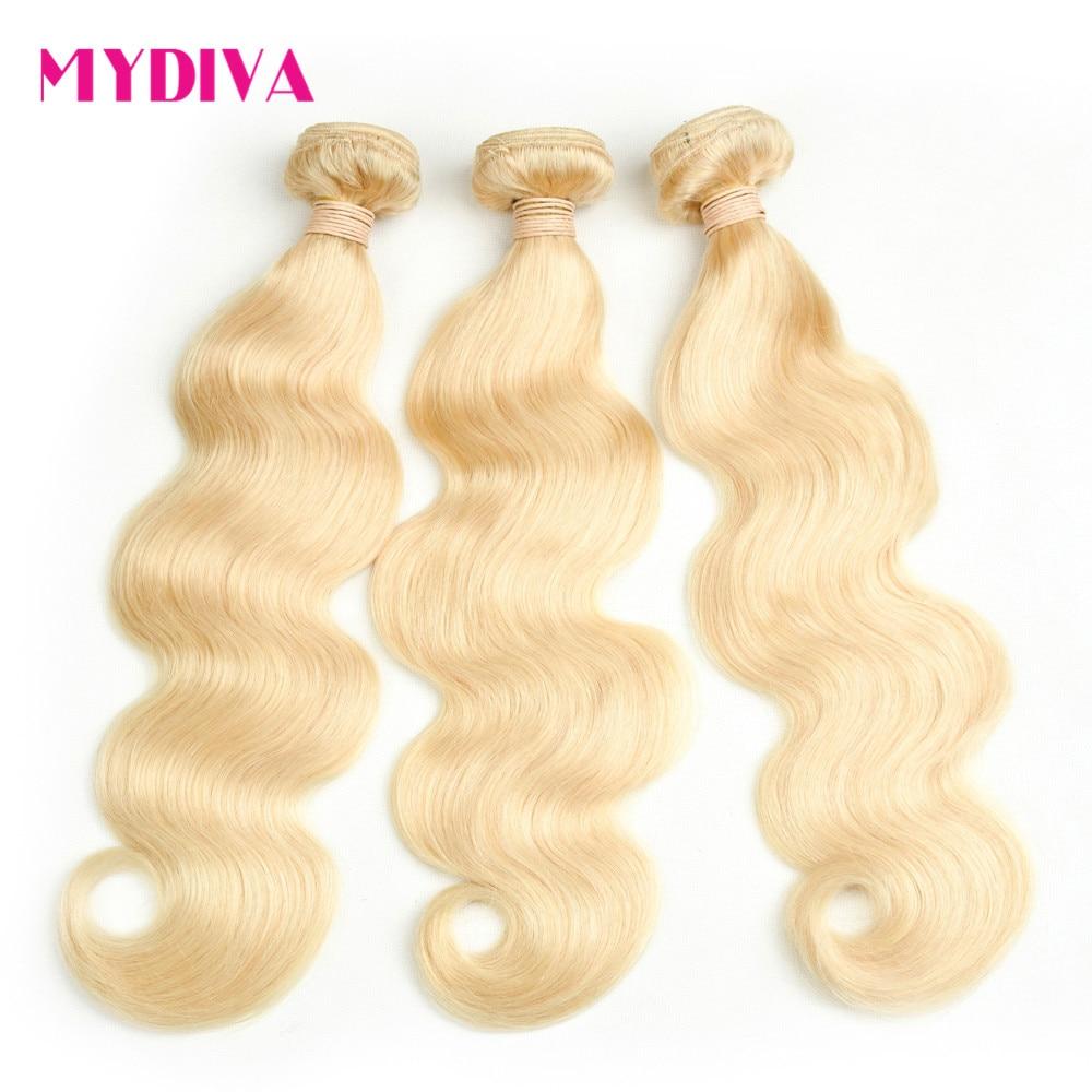 Blonde Bundles With Frontal Brazilian Body Wave  2