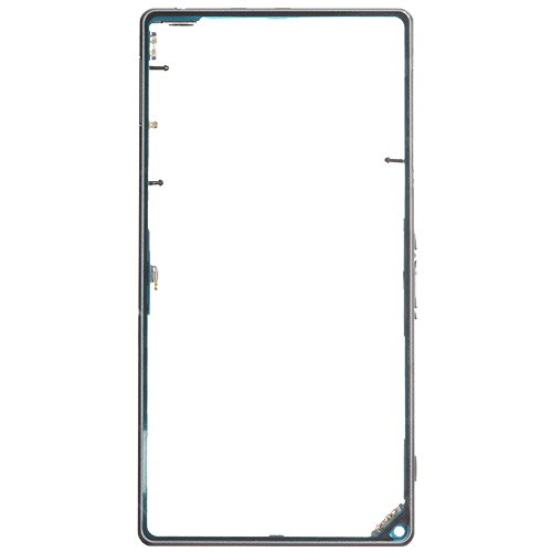 White/Black Color Middle Frame Bezel With Dust Plug for