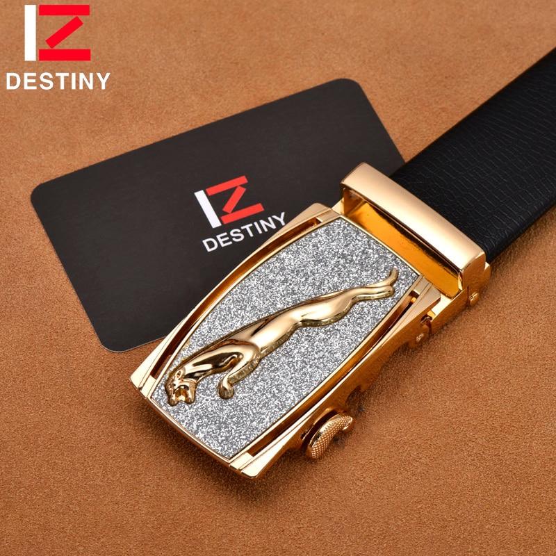 DESTINY Designer Belt Men Luxury Famous Brand Male Genuine Leather Strap Wedding Jeans Silver Gold Belts Ceinture Homme Cinto