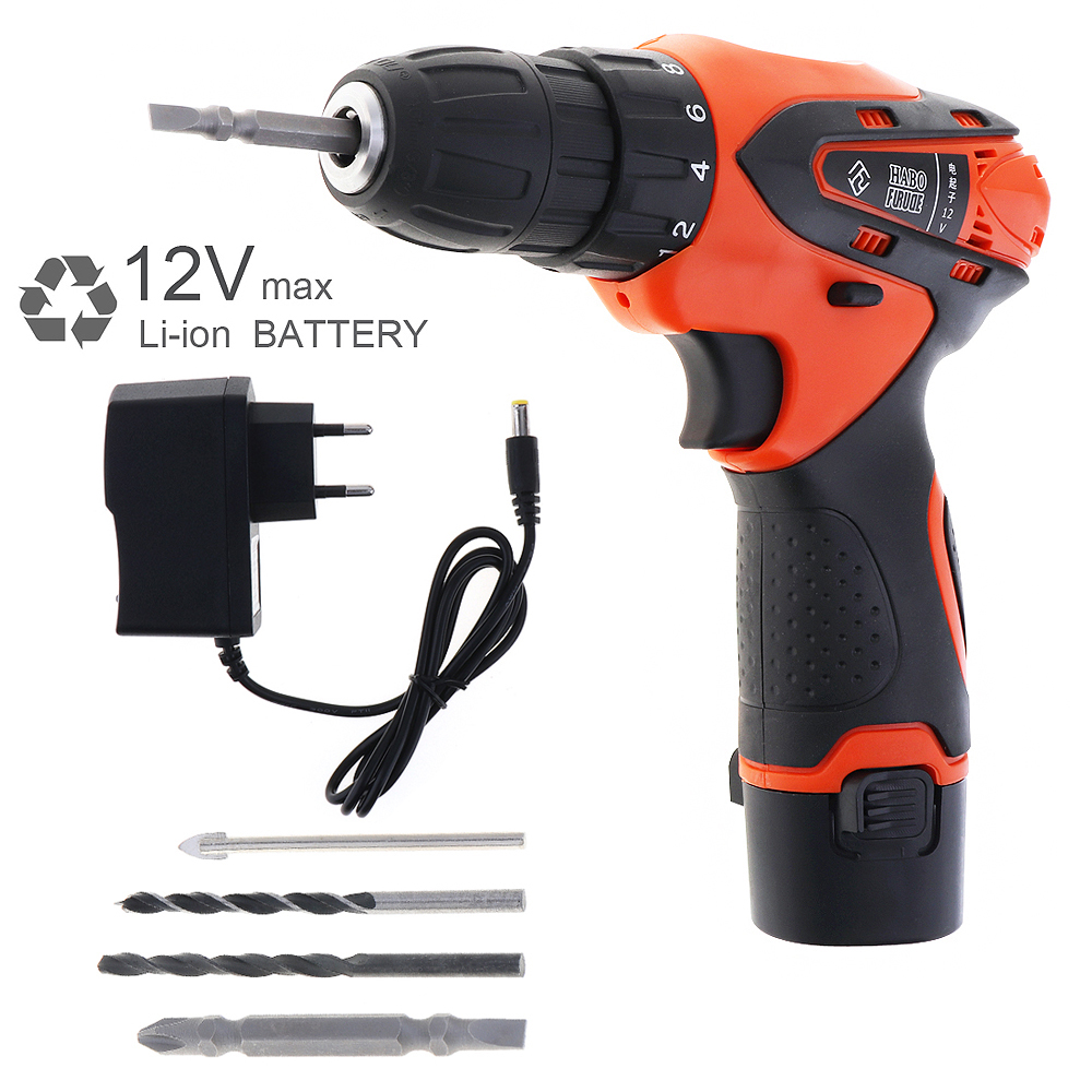 цена AC 100 - 240V Cordless 12V Electric Screwdriver / Drill with Lithium Battery and Rotation Adjustment Switch for Handling Screws