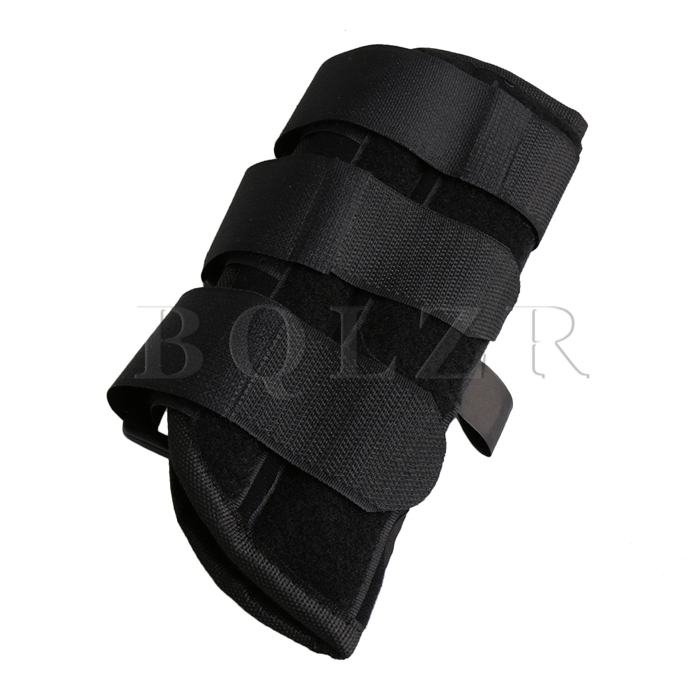BQLZR Black Small Size Left Hands Adjustable Brace Wrist Support Fixation Corrector for Fracture Dislocation