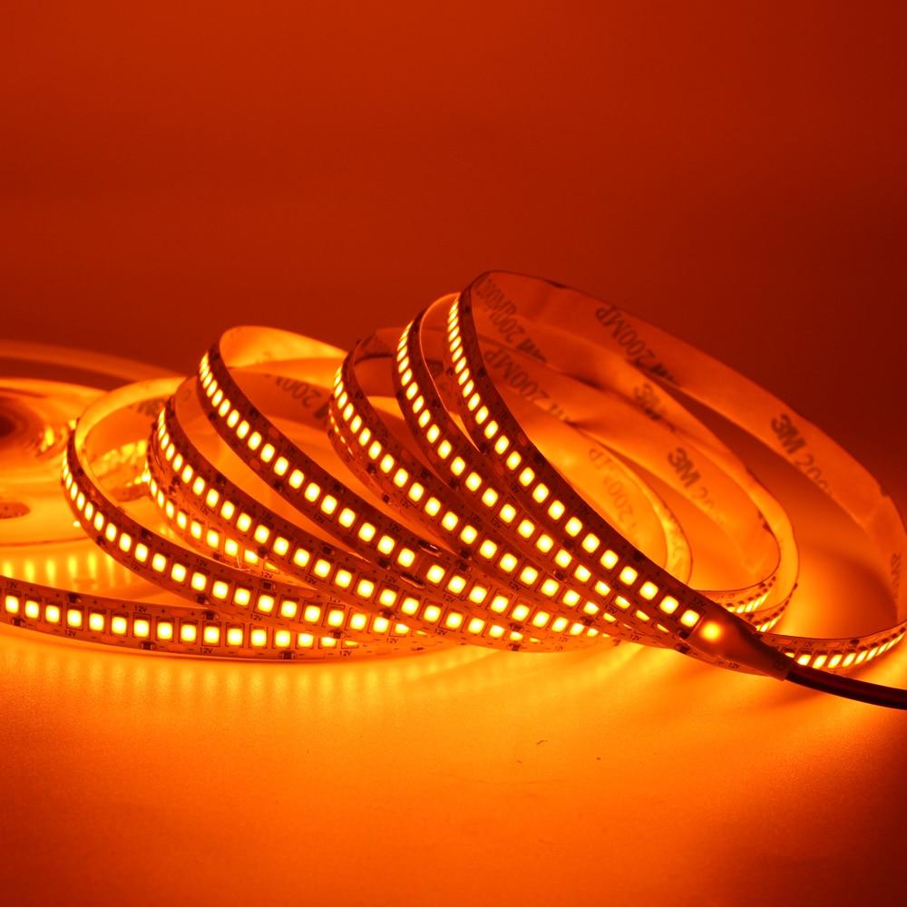 huge discount 3ff70 dff24 US $12.51 31% OFF|5m LED Strip light 2835 SMD 240LED/m 10mm PCB 2835 SMD  1200 LED Strip tape 12V waterproof Flexible Light Warm White Orange-in LED  ...