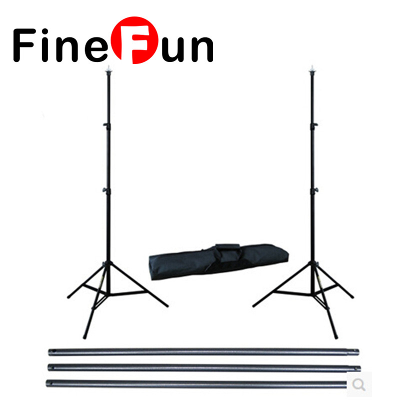 FineFun 2M X 2.3M(6.5ft*6.5ft) Photo Background Support System Stands Adjustable Backdrop Support Photography Accessories #A1525 ashanks pro photography studio photo backdrops frame background support system 2m x 2 4m stands for photo shoot carry bag