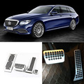 Brand New 4pcs Aluminium Non Slip Foot Rest Fuel Gas Brake Pedal Cover For Benz E-Class AT 2010-2016