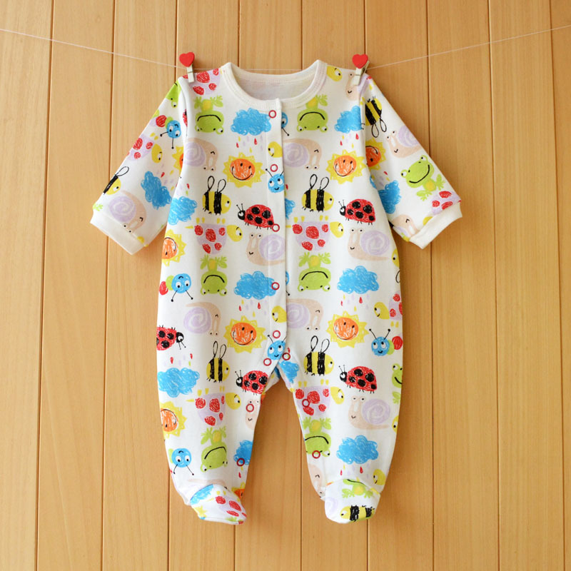 17 New spring cartoon baby rompers cotton 100% girls and boys clothes long sleeve romper Baby Jumpsuit newborn baby Clothing 16