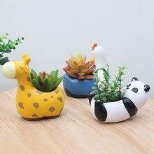 Cartoon Animal Flowerpot Fleshy Flower Pot Decoration Cartoon Figurine Micro Landscape Potted Plant Pot For Home Decoration