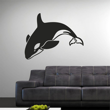 YOYOYU 40 colors Vinyl wall stickers muraux Dolphin Swing Pattern Removeable Wall Decal Livingroom Bed Wall Decor ZX186 quality floating dandelion pattern removeable wall stickers