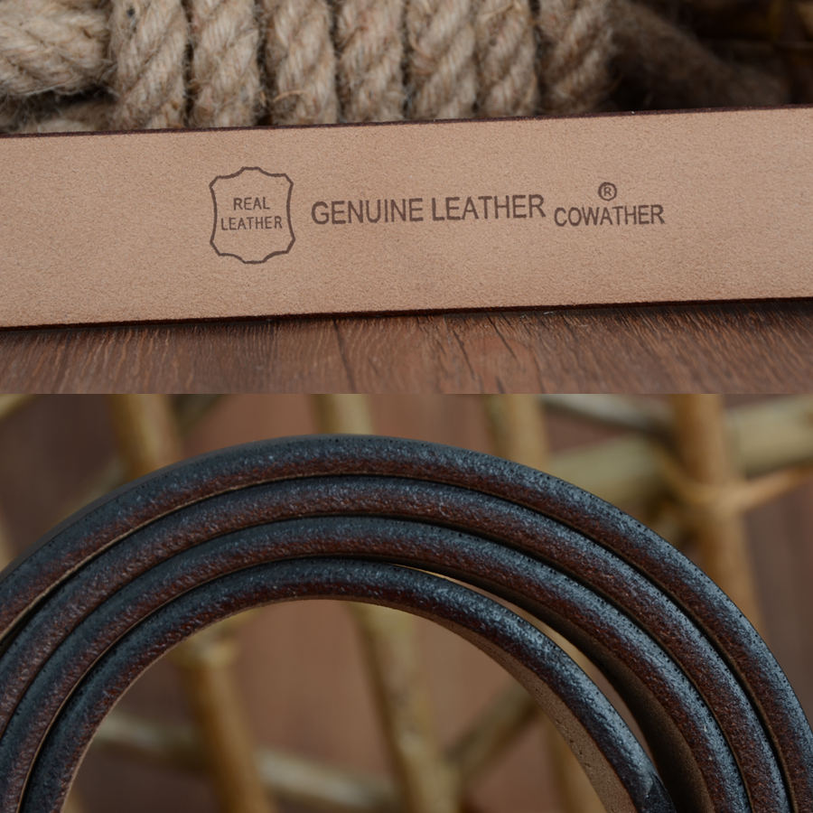 Genuine Cow Hide Leather Belt 3