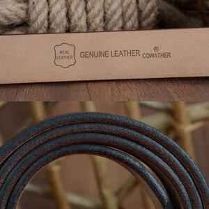 Image 5 - COWATHER 2019 мужские корова из натуральной кожи класса люкс ремень мужской ремень для мужчин новая мода classice старинные пряжкой бесплатная доставка
