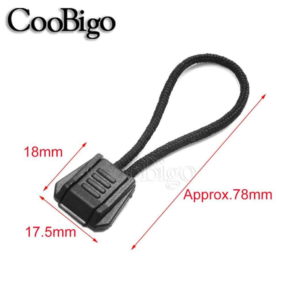 """100 sztuk paczka 3 """"długość mieszane kolory 2mm Paracord Zipper Pull odkryty Camping plecak turystyczny akcesoria podróżne # CSF02-C (mix-s)"""