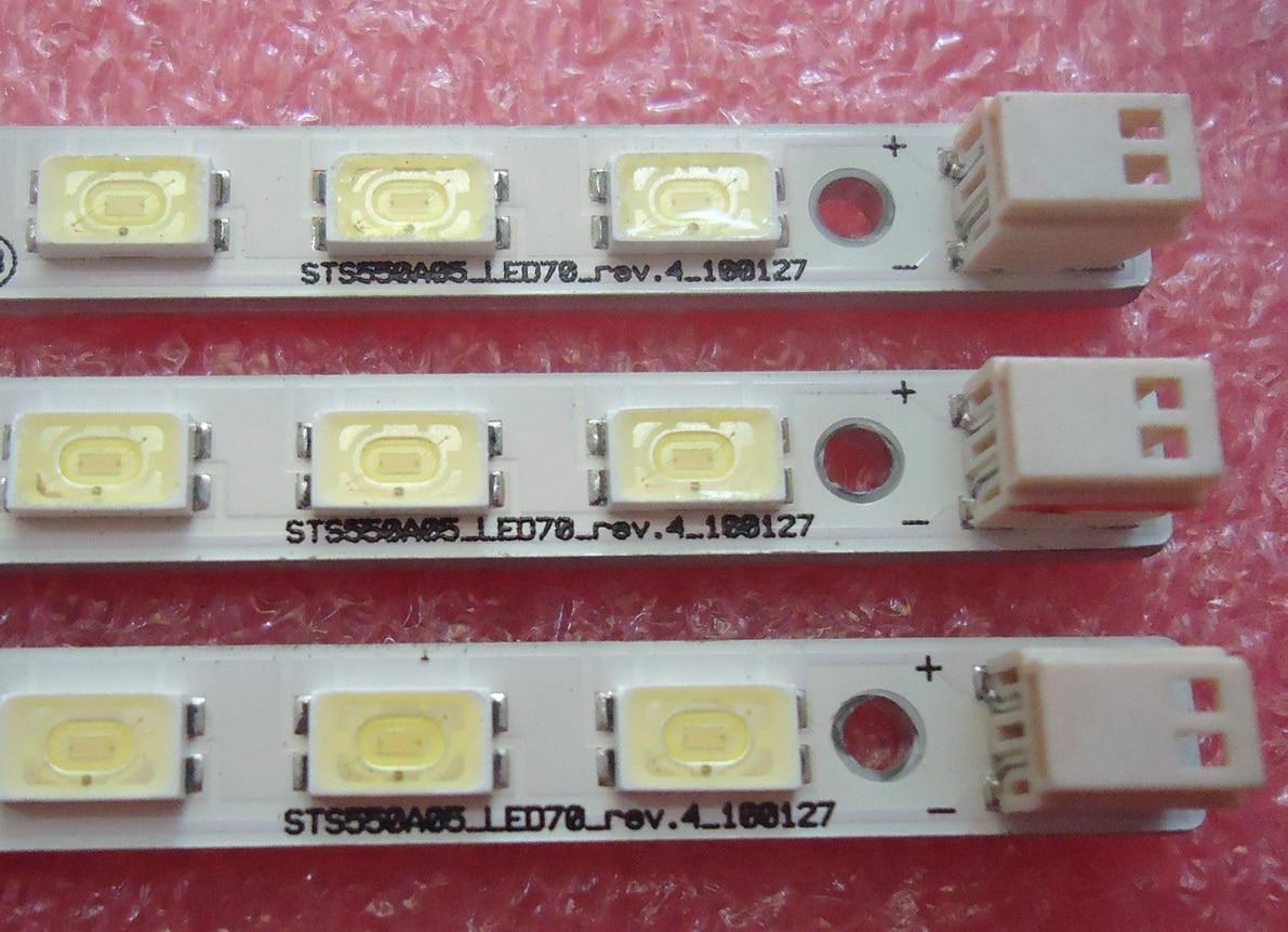 FOR Haier LE55A300N Article lamp LJ64-02219A LJ64-02220A screen LTA550HJ05 1piece=70LED 618MM for haier le50a5000 50du6000 article lamp v500h1 me1 tlem9 1piece 68led 623mm