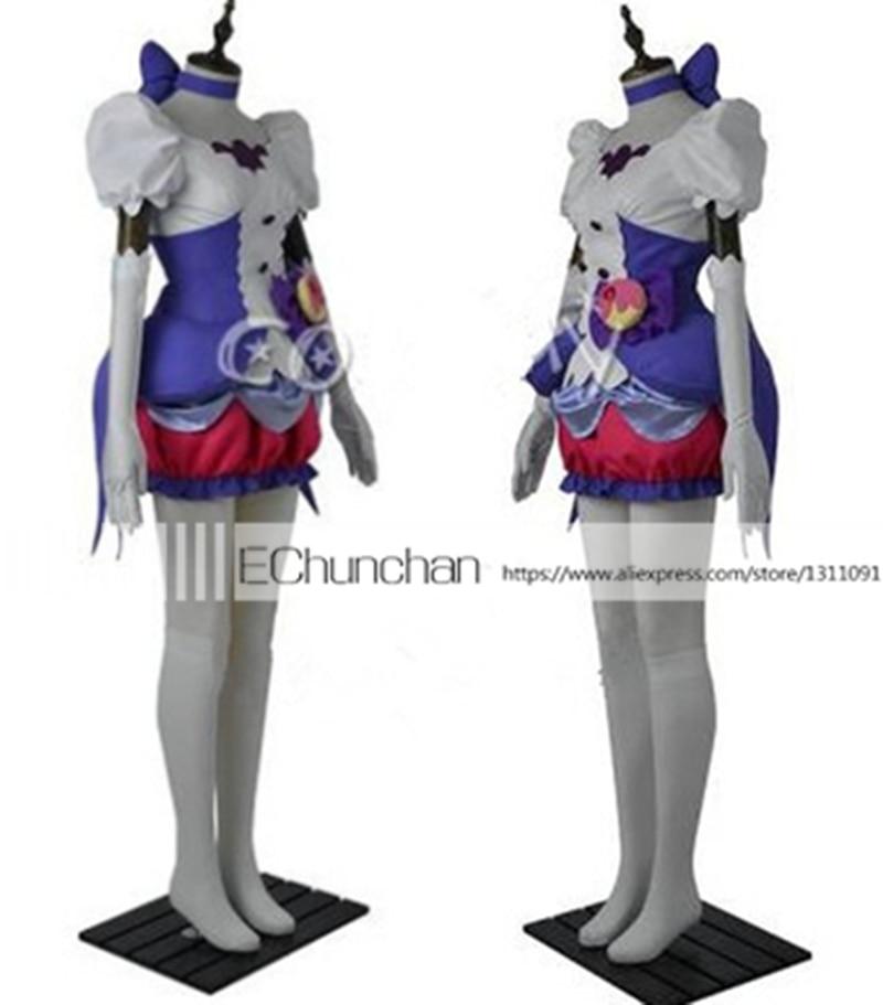 kirakira pretty cure a la mode cosplay costume cure macaron kotozume yukari cosplay purple dress. Black Bedroom Furniture Sets. Home Design Ideas