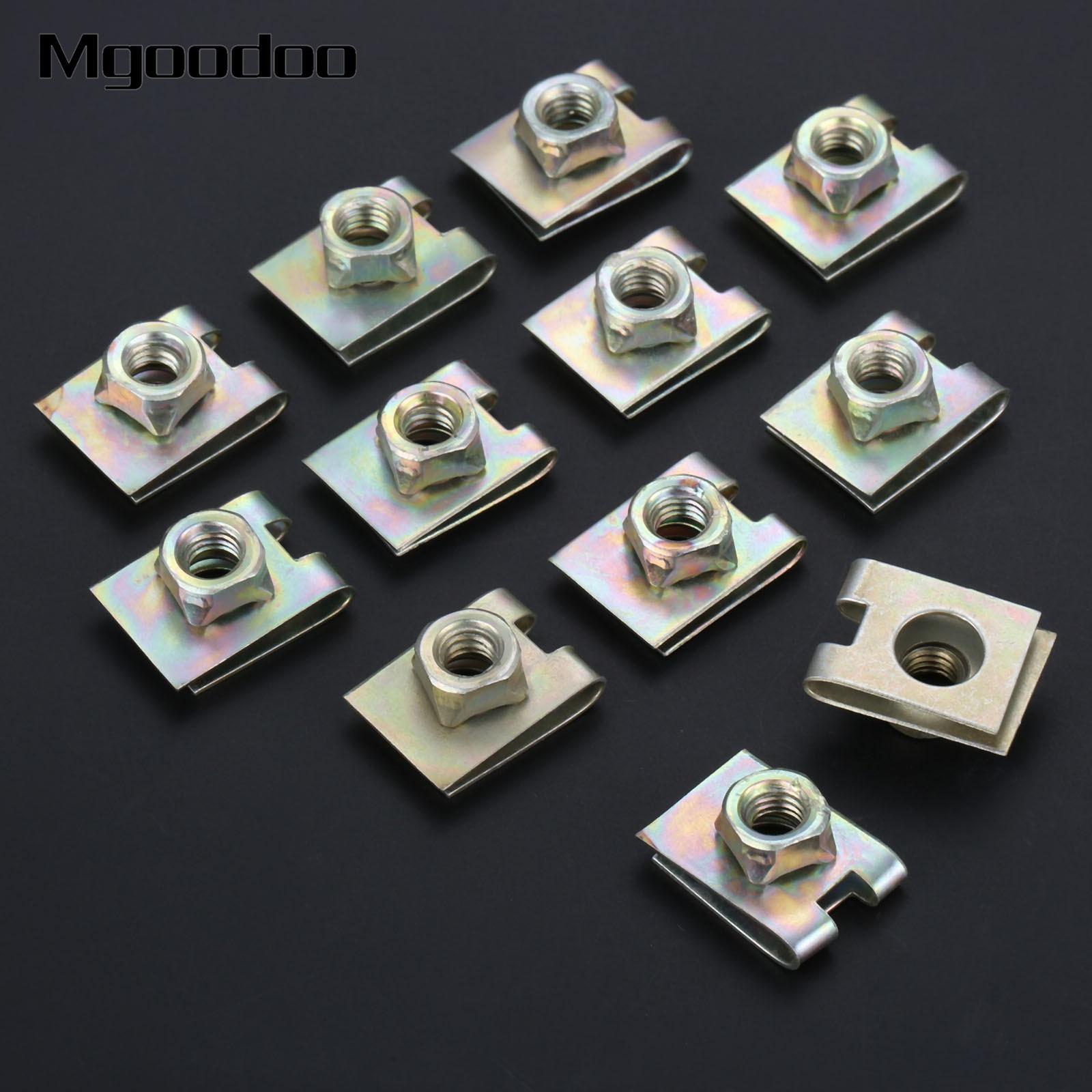 30pcs 6mm M6 Spring Metal U-Type Clip Speed Nut for Car Panel Fender Defense