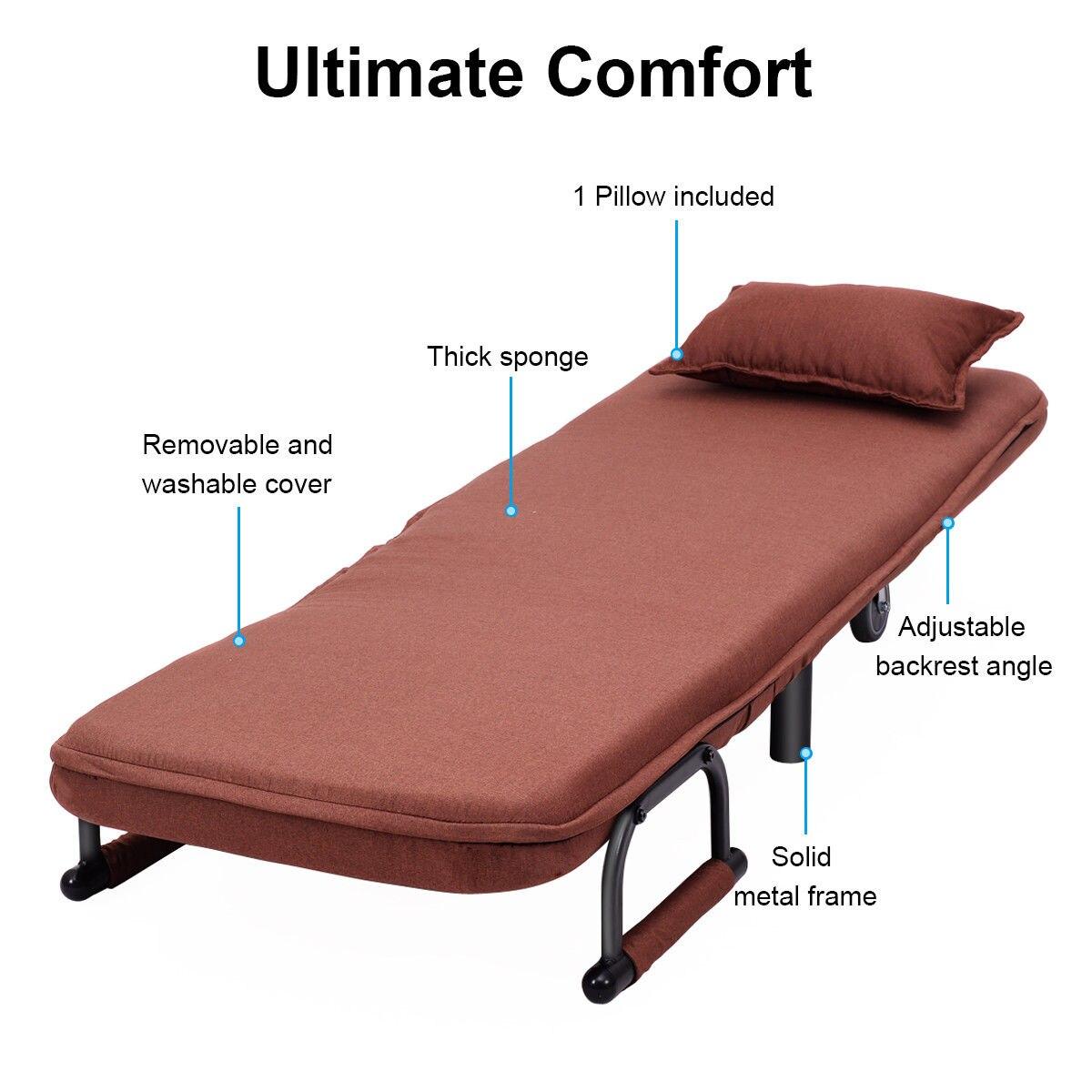 costway convertible sofa bed folding