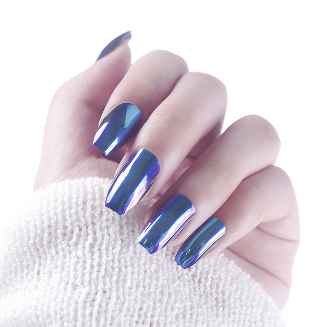 New 24pcs Fashion Multi Refraction Fake Nails With Designs Fake