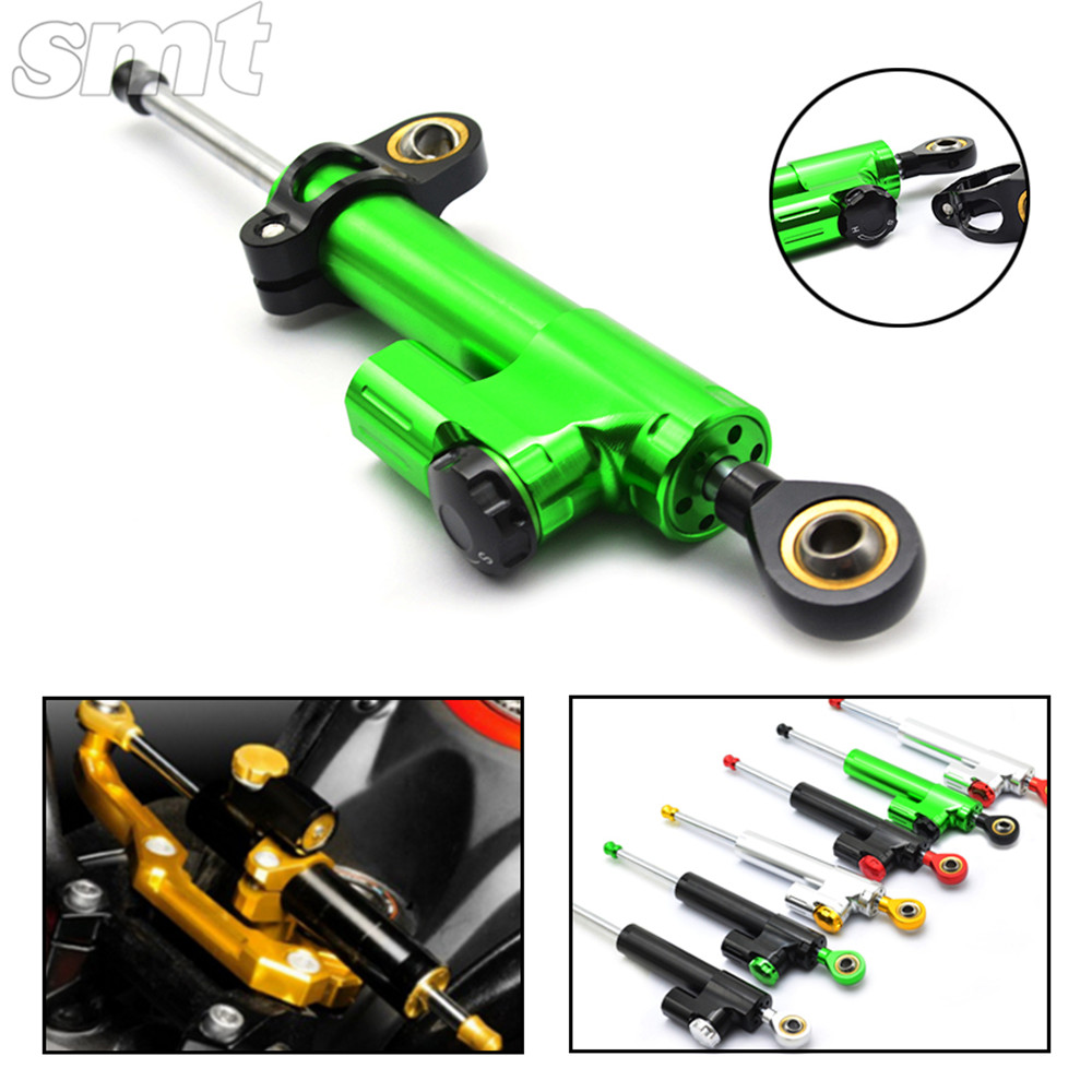 Universal Motorcycle CNC Damper Steering Stabilizer Damper Linear Reversed Safety Control for yamaha r3 ktm duke 390harley 883 2015 brand new universal motorcycle cnc aluminum steering damper blue color stabilizer linear reversed safety control 5 colors