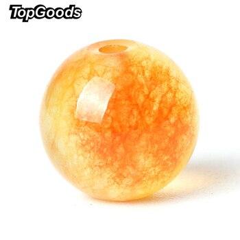 Бисер TopGoods из натурального камня, оранжевые, яшма, свободные четки, 6/8/10 мм, 15 дюймов, Нефритовый камень, кварцевые драгоценные камни для изготовления браслета