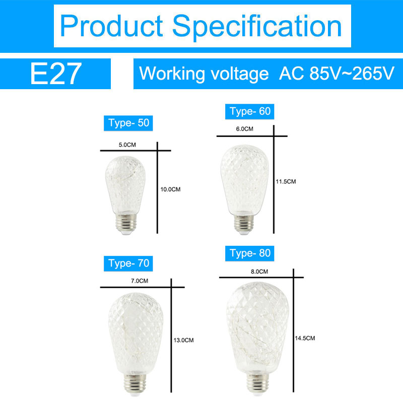 ikeacasa ampoules bombillas lampada gl hbirnen led bulb edison st64 e27 ac85 265 rgb. Black Bedroom Furniture Sets. Home Design Ideas